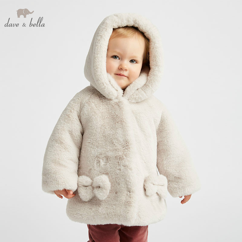 DB8683 dave bella autumn winter baby lolita girls cute hooded jacket children high quality coat infant toddler outerwearDB8683 dave bella autumn winter baby lolita girls cute hooded jacket children high quality coat infant toddler outerwear