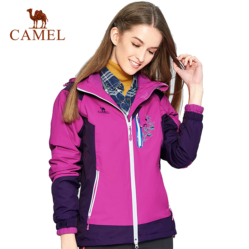 camel outdoor jacket 3 in 1 women windproof waterproof jacket female camping hiking jackets rain windstopper windbreaker CAMEL Women's 2-Layer Outdoor Jacket Trekking Hiking Camping Warm Brand Coat Waterproof Windproof Windbreaker Rain Female Jacket