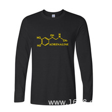 2017 Newest Fashion Funny The Theory Sheldon Adrenaline Molecule funny long  sleeve t shirt(China