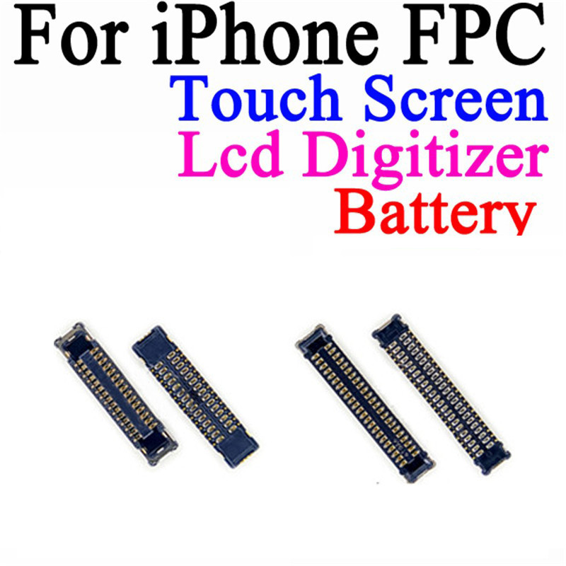 2pcs/lot High Quality For <font><b>iPhone</b></font> 6 <font><b>6S</b></font> 6 Plus <font><b>6S</b></font> Plus LCD Display Touch Screen Digitizer Battery FPC <font><b>Connector</b></font> On Motherboard image