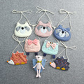 Kids coin purses bags 2016 cloth cartoon girls boys messenger bags kawaii unisex baby accessories cute cat/bear shoulder bags