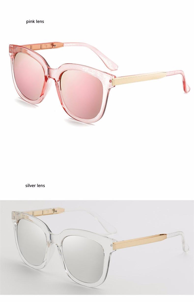 High Quality Couple Square Sunglasses Women Brand Designer Vintage Retro sun glasses for women Men Sunglass Mirror Lunette Femme (15)