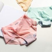 5PCS Mix 2017 New Sexy Summer Ultra Thin Seamless Women Panties Lingerie Underwear Women Panties Ladies