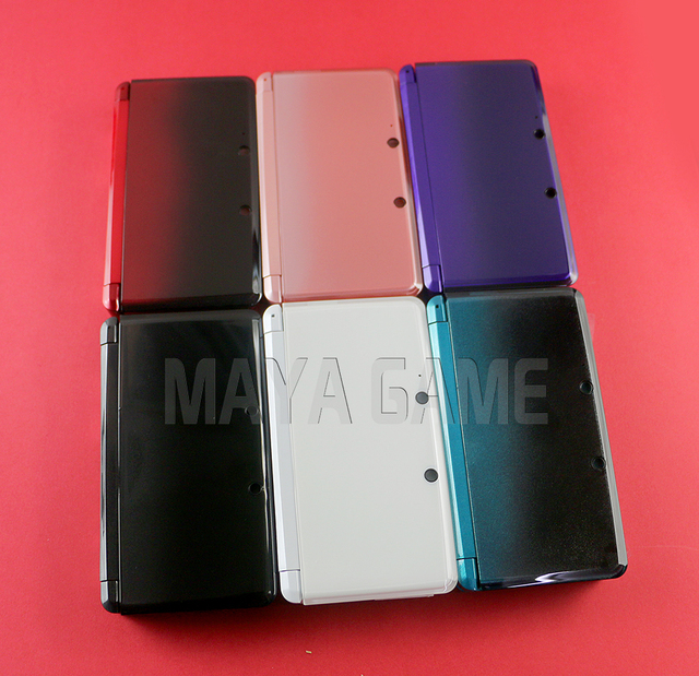1set Full Complete Housing Shell case with screen lens for 3DS Case Cover Replacement Repair Parts with Buttons kit+3M sticker