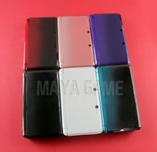 Carcasa completa con lente de pantalla para 3DS, piezas de repuesto con kit de botones + pegatina 3M, 1 Juego