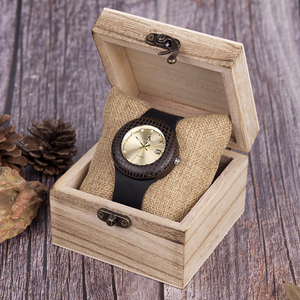 Image 3 - בובו ציפור עץ קוורץ שעון גברים נשים שעונים רצועת עור שעוני יד מתנות עץ תיבת W iQ17 זרוק חינם