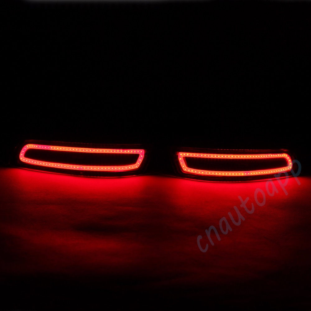LED Rear Bumper Warning Lights Car Brake Lamp COB Running Light  For Toyota Corolla  2014-16 (One Pair) dongzhen fit for nissan bluebird sylphy almera led red rear bumper reflectors light night running brake warning lights lamp
