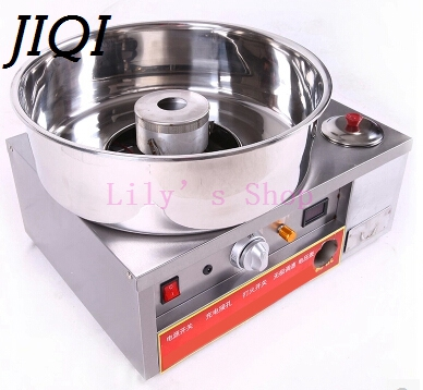 купить JIQI Luxury fancy Commercial gas cotton candy maker candyfloss DIY sugar floss flower type Cotton Candy machine stainless steel недорого