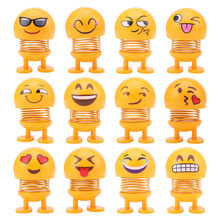 Funny Emoji Shaking Head Toys Car Ornaments Nod Dolls Cute C