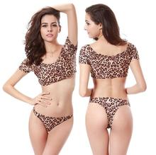 2017 sexy Bikini Set hot sale Leopard swimwear Women Swimwear wire free Swimsuit Bathing Suits Biquini