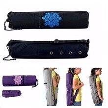 86dfed0e7 Lona duradera Yoga Pilates Mat llevar bolsa correa ajustable cordón bolsa  deporte ejercicio Fitness mochila para 6mm esterilla d.