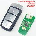 3 Botão Chave Remoto Inteligente Para Carro VW Magotan 433 MHZ ID48 Chip 3CO 959 752 BA/9066-10
