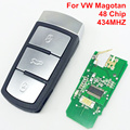 3 Button Smart Remote Key For Car VW Magotan 433MHZ ID48 Chip 3CO 959 752 BA/9066-10