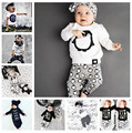 New 2017 baby boys clothes sets infant cotton letter printed long sleeve t-shirt+pants newborn 2pcs suit baby girls clothing set