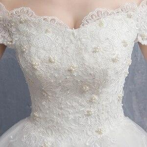 Image 5 - Mrs Win Applique Kant Vintage Trouwjurk 2020 Nieuwe Off Shoulder Bruid Jurk Prinses Droom Trouwjurk China Bruidsjurken