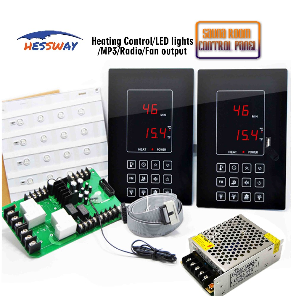 30A Relay timing Multifunction Sauna control panel THERMOSTAT room temperature controller for LED light30A Relay timing Multifunction Sauna control panel THERMOSTAT room temperature controller for LED light