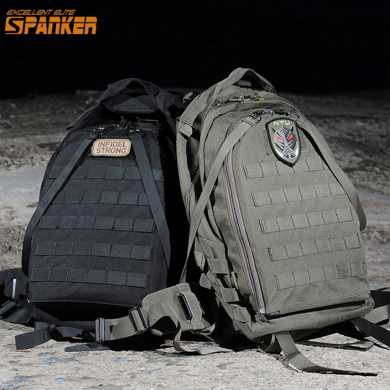 EXCELLENT ELITE SPANKER Military Tactical MOLLE Rapid Response Backpack With Concealed Vest Army outdoor Nylon Hunting Backpack spanker 1000d camouflage tactical molle tank mechanic chef cooking grilling apron army training hunting waterproof nylon vest