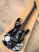 Factory release ESP Ouija KH-2 moon star electric guitar ESP Kirk hammett signature guitar with 9V Battery Active Pickup-17-11(China)