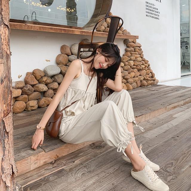 MISHOW 2 Stück Set Frauen 2019 Sommer Schlinge shirt Top + Lose hosen Anzüge Zwei Stücke Sommer Kleidung Für Frauen MX19B0184