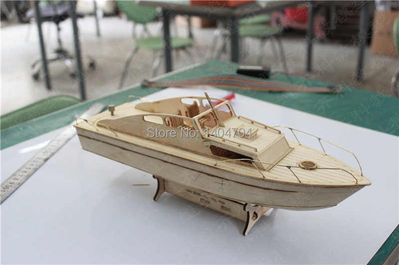 NIDALE model Free shipping laser cut yacht wood puzzle European Classic excursion boat model Assemble Rivas yacht  model