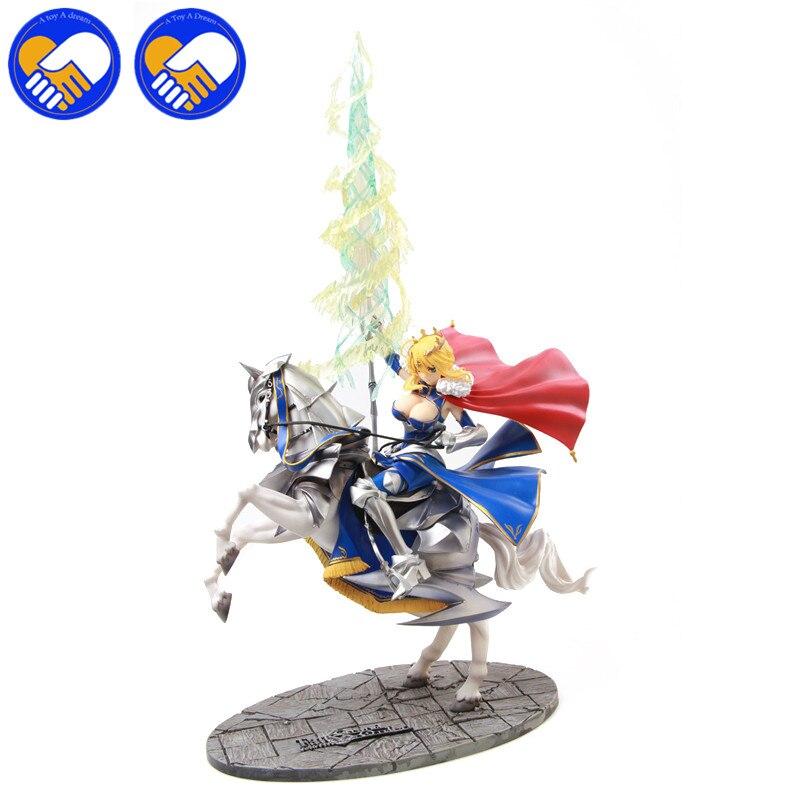 Anime FGO Fate/stay night Saber Lancer Altria Pendragon Saber.Abyss Altria kurodragon Excalibur White horse knight Figure Toys