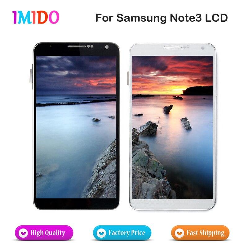 10 pièces affichage LCD en gros pour Samsung Galaxy Note3 N900 N9000 N9005 N900A LCD écran tactile numériseur assemblée remplacement