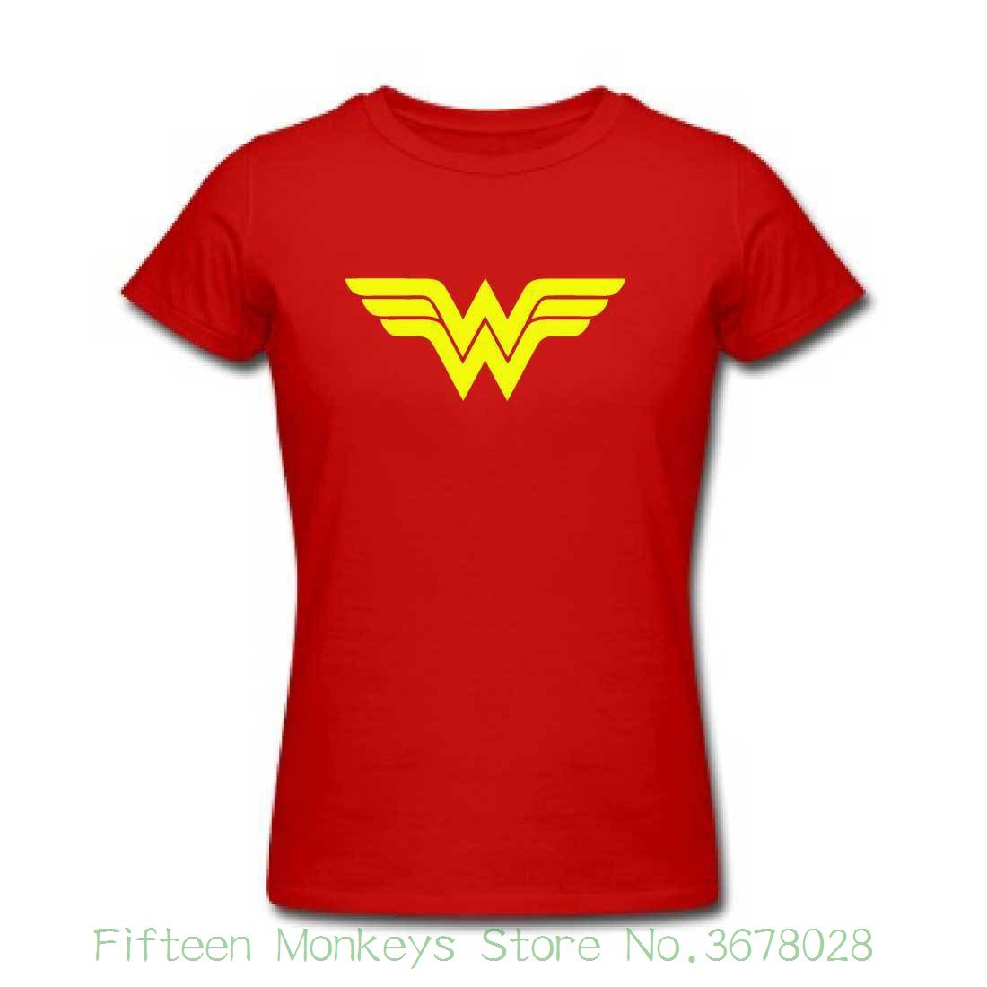 Womens Tee Wonder Woman Tshirt - Womens Ladies Super Hero Costume Party Top Retro Cool 2018 Newest Women Fashion ...