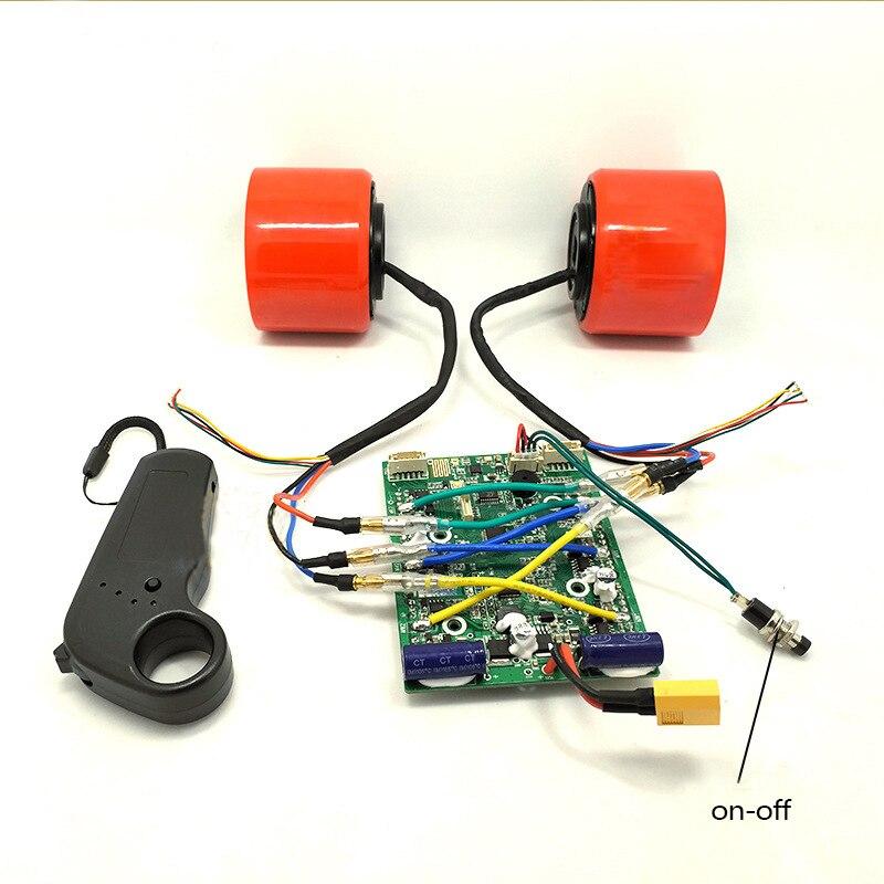 75mm 83mm monopatín eléctrico sin escobillas Motor juegos de ruedas Motor eléctrico ruedas para monopatín Longboard e-skateboard