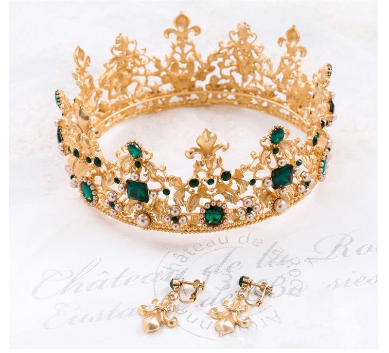 تيجان ملكية  امبراطورية فاخرة 3-Colors-Sparkling-Baroque-Gold-Big-Wedding-Pageant-Tiaras-Hairband-Crystal-Bridal-Crowns-For-Brides-Hair