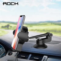 ROCK QI Car Wireless Charger Holder For IPhone 8 X Samsung Galaxy S8 Note 8 5W