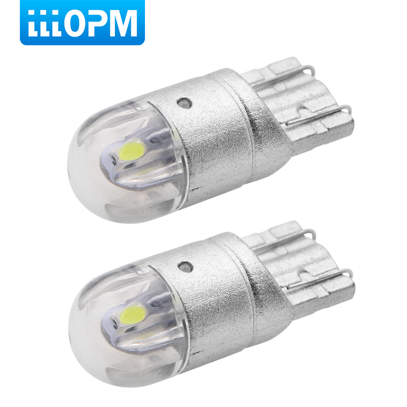 2pcs <font><b>T10</b></font> <font><b>LED</b></font> Bulbs White 168 501 W5W <font><b>LED</b></font> Lamp <font><b>T10</b></font> Wedge 3030 2SMD Interior Lights 12V - 24V 6000K Red Amber yellow Ice <font><b>Blue</b></font> image