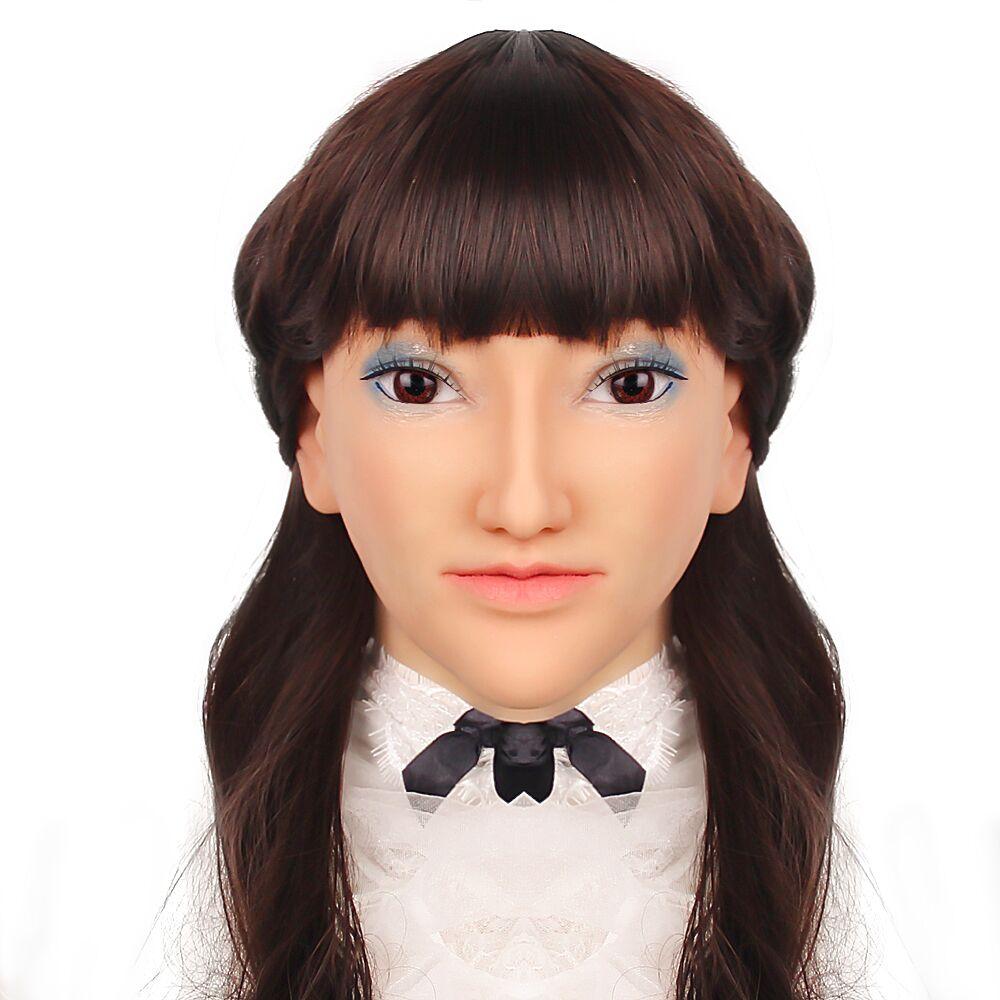 KOOMIHO Goddess Soft Silicone Transgender Mask Crossdress Cosplay Mask Generic Big Head Circumference Handmade Makeup Mask 3G  - buy with discount