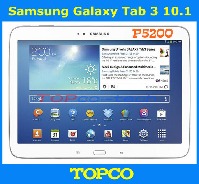 US $230 0 |Samsung Galaxy Tab 3 10 1 P5200 Original Unlocked 3G Dual core  Android Mobile Phone Tablet 10 1