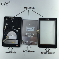 Capacitive Touch Screen LCD Display Digitizer Glass Assembly With Frame For Asus Fonepad 7 Memo HD