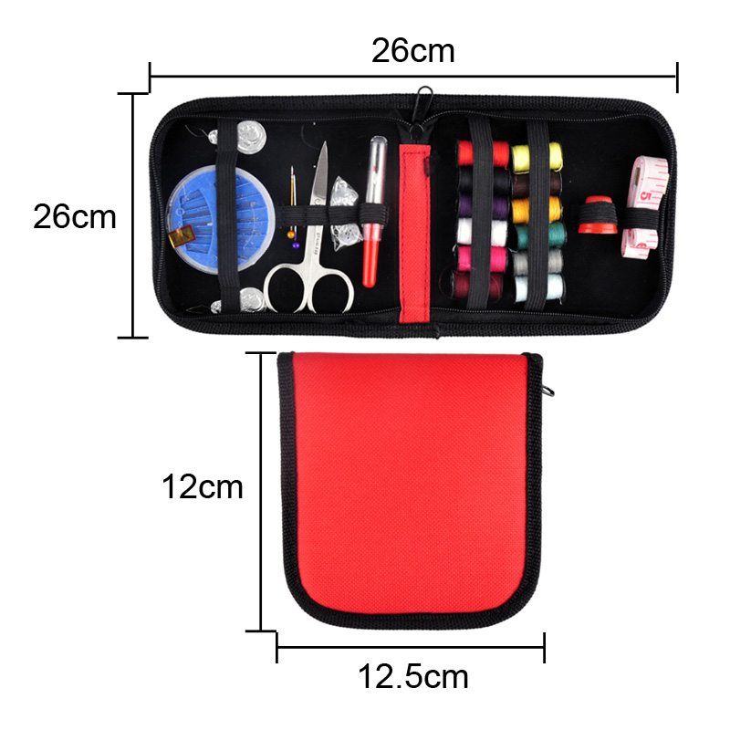 Inventory Clearance Outdoor Sports Travel Hiking Emergencies DIY Scissor Needle Tape Notions Thread Sewing Kit 25pcs/Set 4 Color