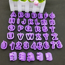 40pc English Letter Number Font Alphabet Cutter Cookie Fondant Cake Biscuit Baking Tool Decorating Mold