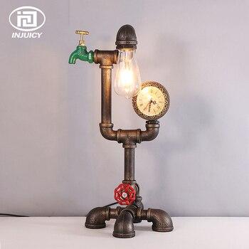 خمر لوفت الصناعية نمط Steampunk لمبة مكتب الرجعية الحديد الفن مقهى بار إضاءة للطاولات مطعم انبوب ماء متر الإضاءة