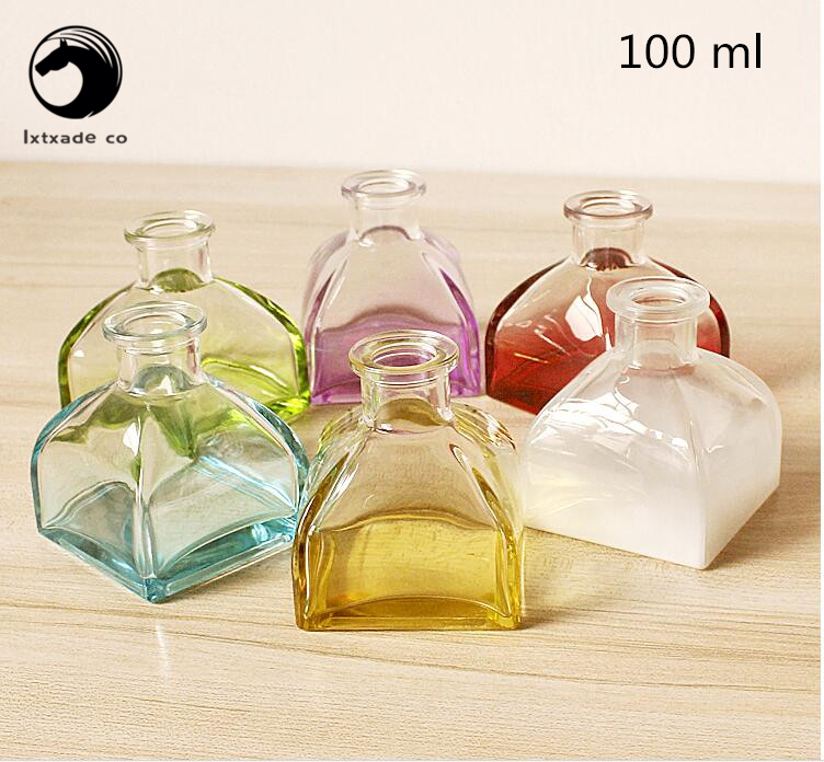 Free Shipping 100 ml Clear and transparent Glass Empty perfume Bottle parfume Aroma font b fragrance