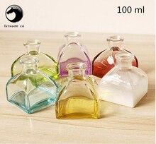 O Envio gratuito de 100 ml de Vidro Claro e transparente Frasco de perfume Vazio recipientes garrafa parfume fragrância Aroma desodorizado