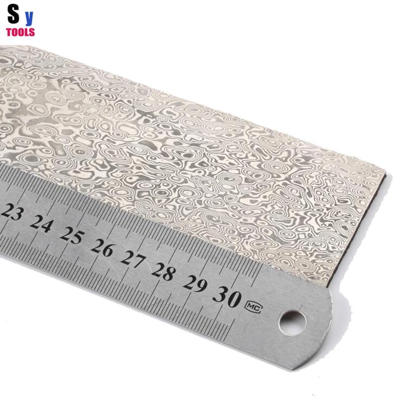 цена на China Pattern steel Chopper steel Damascus diy makes knife materials 320*50*3mm