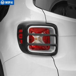 Image 3 - MOPAI cubierta protectora de Metal para faro trasero de coche, pegatina decorativa para Jeep Renegade 2015, accesorios exteriores, decoración para coche