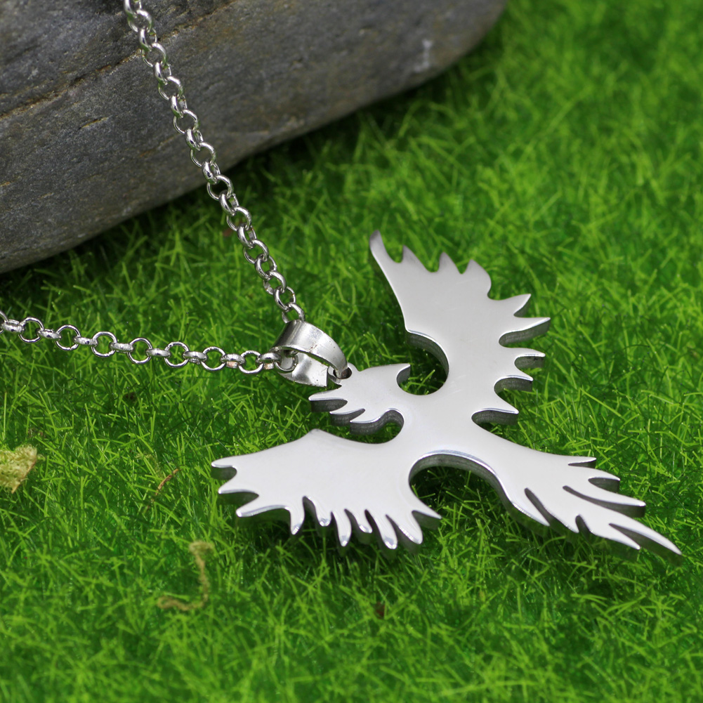 Youe shone mens stainless steel pendant necklace phoenix bird aeproducttsubject aloadofball Images