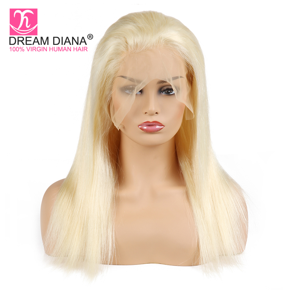 Dream Brazilian Blonde Wigs 613 Frontal Lace Wig Honey Blonde Straight Frontal Wig 150 Density Remy Hair Wigs Express Delivery
