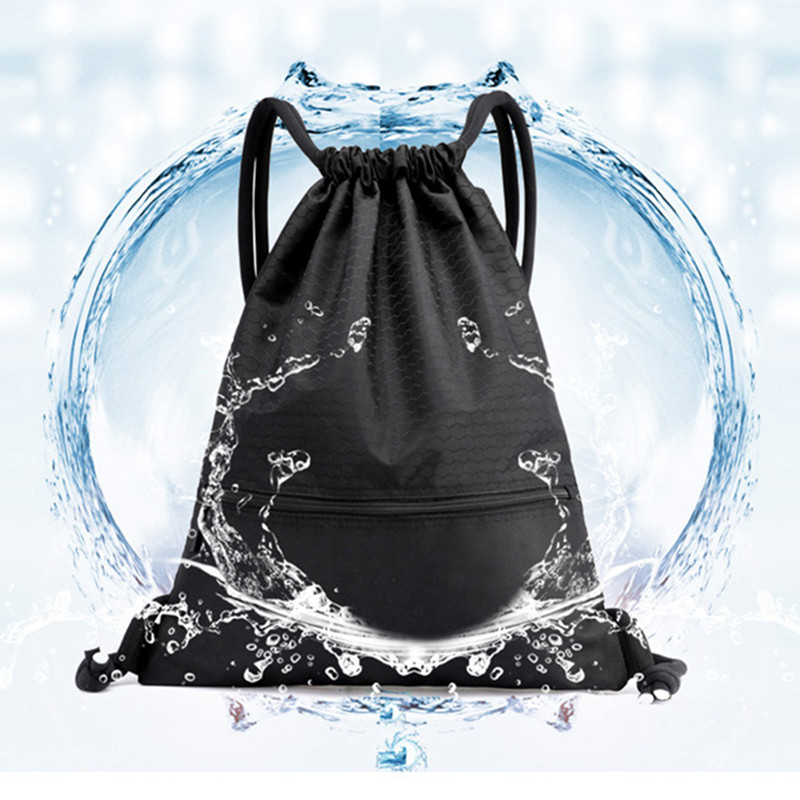 Obliging Drawstring Backpack Men Women Sports Fitness Gym Bag Outdoor Travel Waterproof Nylon Backpack Sac De Sport Supplement The Vital Energy And Nourish Yin