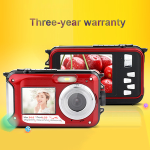 Image 5 - KOMERY الأصلي ثنائي الشاشة الرقمية كاميرا مقاومة للماء/كاميرا 1080 P 2000 W بكسل 16X تقريب رقمي HD الذاتي الموقت كشف الوجه