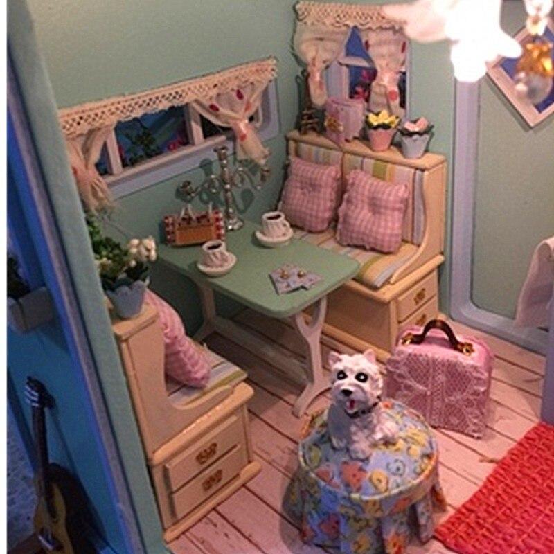 Diy Dollhouse Miniature Kits Urban Home Interior
