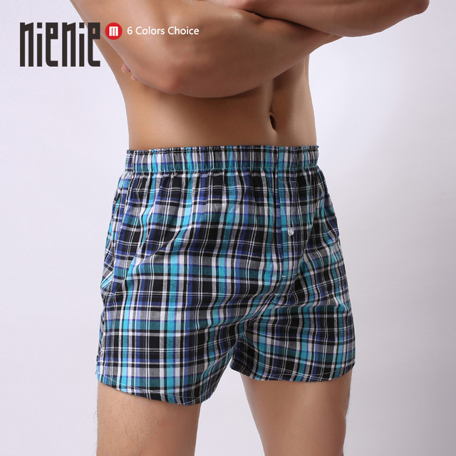 Free Shipping New Aro 100% male shorts cotton pajama loose lounge Plaid line Men's shorts beach