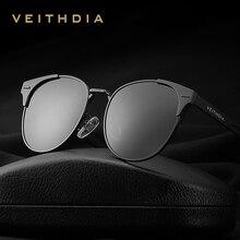 VEITHDIA نظارة شمسية كلاسيكية للجنسين من الألمونيوم بعدسات مستقطبة أكسسوارات نظارات شمسية Oculos للرجال والنساء 6109