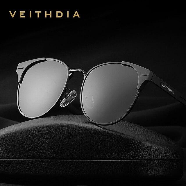 Солнцезащитные очки унисекс VEITHDIA, брендовые винтажные алюминиевые очки с поляризационными стеклами, для мужчин и женщин, модель 6109,