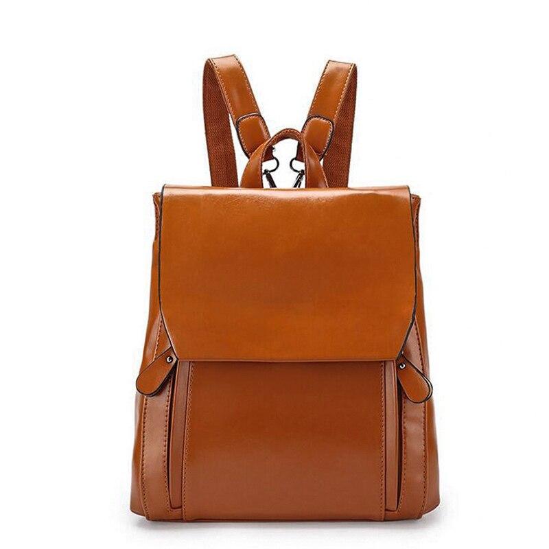 2017 New Fashion Women Backpack Woman Vintage Preppy Style School Bag For Teenage Girls Soft Pu Leather School Backpack Mochila